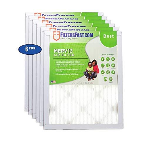 1インチ プリーツエアフィルター MERV13 6パック フィルター Filters Fast 30x36x1 30x36x1 6 B01DTH8GZ6 22x24x1  22x24x1
