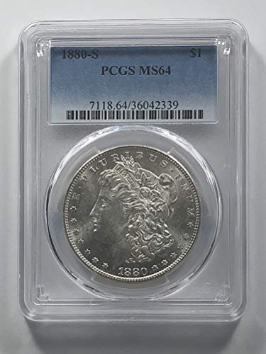 1880 S Morgan Silver Dollar Dollar MS-64 PCGS