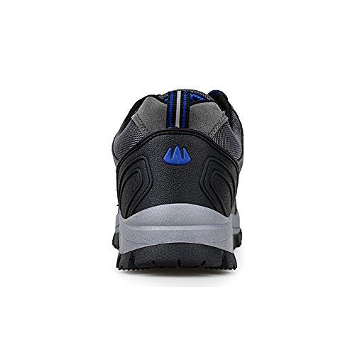 ailishabroy Marca Hombre Trekking Escalada Lace Up Zapatillas de Paseo Desgaste y impermeable Zapatillas Hombre Deportes de exterior Grey