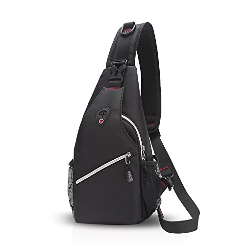 Porté Hiking Cycling Bag Trekking Polyester Sacs FANDARE Bag Rouge Gris à Bandoulière Crossbody Sling Bag dos Imperméable Voyage des Sac Hommes Porter Déséquilibrer wzP4wXSq