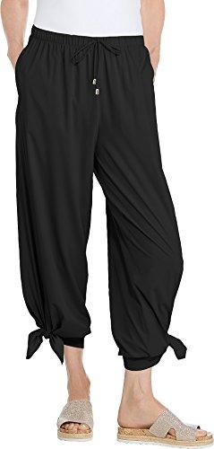 (Coolibar UPF 50+ Women's Petra Wide Leg Pant - Sun Protective (Large-)