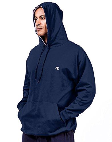 Champion Men's Big & Tall Fleece Pullover Hoodie Navy X-Large (Champion Lined Sweatshirt)