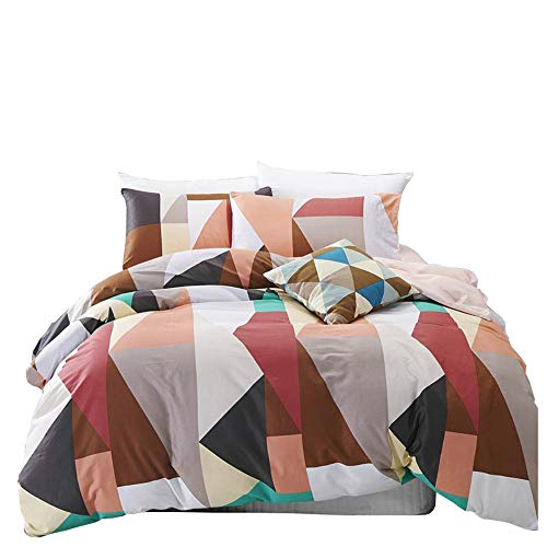 VM VOUGEMARKET Geometric Duvet Cover Set Queen,Full Cotton C