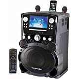 Karaoke USA GP975 Professional DVD/CD+g/Mp3+g Karaoke System with 7'' Color TFT Display & Recording