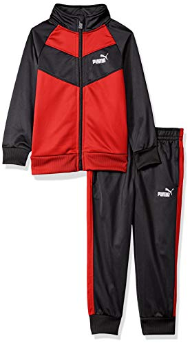 PUMA Little Boys' 2 Piece Tricot Set, Ribbon Red 4