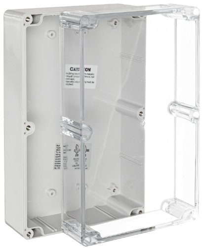 BUD Industries PN-1335-C Polycarbonate NEMA 4x Box with Clear Cover, 10-27/64