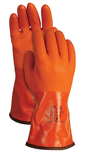 versal Medium Pvc Snow Blower Gloves, Orange (Atlas Snowblower)