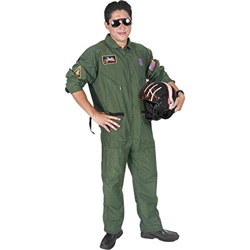 [Adult Maverick Top Gun Costume (Size: Standard 42-46)] (Top Gun Costume Patches)