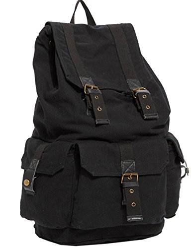 Women Leather Hiking Backpacks Desigual Bag Black - 7