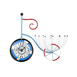 Wall clock, length 54cm (21in), height 45cm (18in) creative bicycle wall clock, living room bedroom metal decorative clock