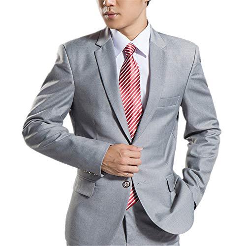 MYS Men's Classic Suit and Pants Set Party Tuxedo Grey Size 40R ()