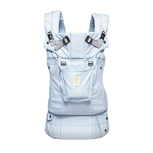 LÍLLÉbaby The COMPLETE Organic SIX-Position360 Ergonomic Baby & Child Carrier, Powder Blue - Organic Cotton Baby Carrier, Comfortable and Ergonomic, Multi-Position Carrying for Infants Babies Toddlers