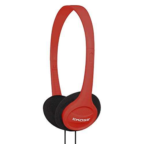 Koss KPH7R Portable On-Ear Headphone with Adjustable Headband - Red by Koss