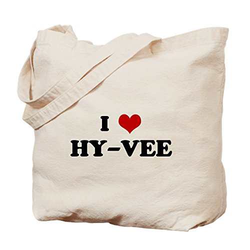 Cub Foods - CafePress I Love HY VEE Natural Canvas Tote Bag, Cloth Shopping Bag