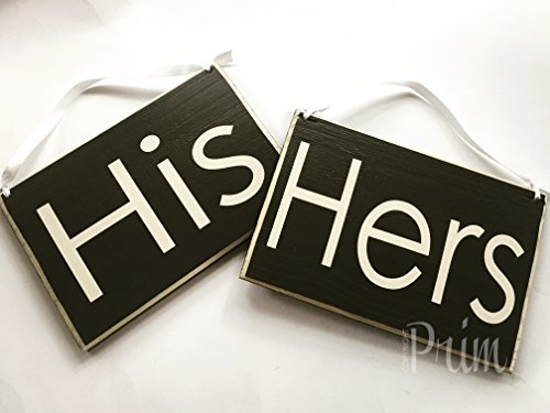 HIS HERS Wedding CUSTOM Shabby Rustic Country Chic Decor Wood Signs CHOOSE COLOR