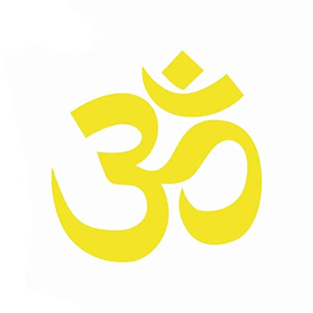 SGJIN HOME Simple OM AUM Símbolo Yoga Etiqueta autoadhesiva ...