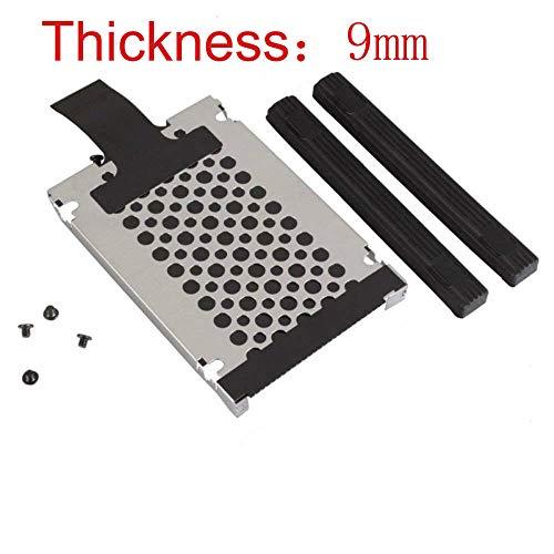 9mm Hard Drive Caddy Tray Bracket Rails with Screws for IBM Lenovo Thinkpad Z60 Z60T Z60M Z61 Z61T Z61M W500 W510 W520 W530