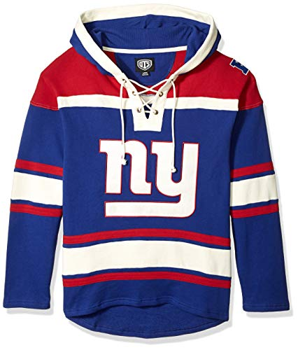 NFL New York Giants Men's OTS Lacer Pullover Hoodie, Logo, Large