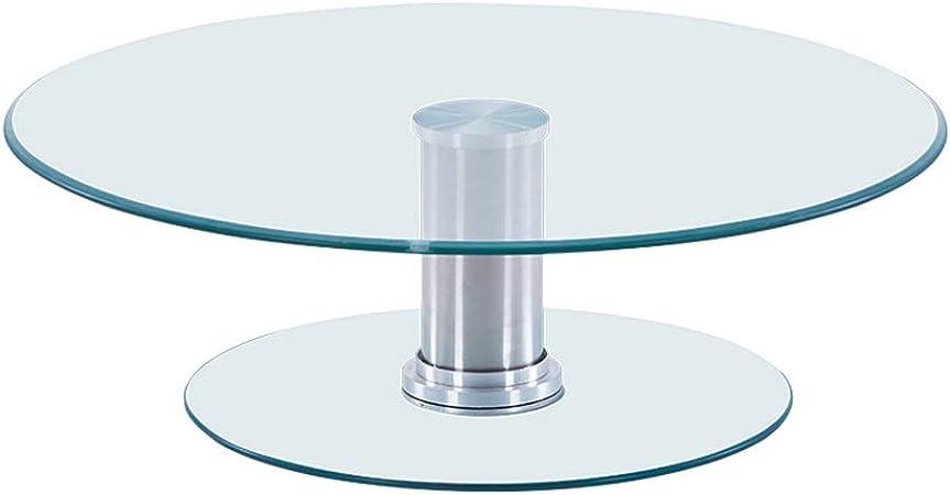 BQSWYD Tavolo da Pranzo Rotondo Giradischi, Spessore