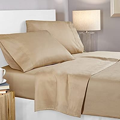 Incredible Beddings Cotton Hotel Luxury 1800 Thread Count Heavy Egyptian Cotton Sheets Set 4-PCsMattress Fits Deep Pockets (Solid) by Incredible Beddings