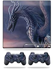 MightySkins Skin Compatible with Sony Playstation 3 PS3 Slim Skins + 2 Controller Skins Sticker Dragon Fantasy
