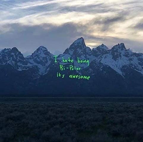 "Official - Kanye West (Ye - I Hate Being Bi-Polar It's Awesome) - Album Cover Poster (12""x12"")"