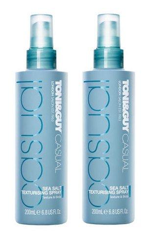 Toni & Guy Casual Sea Salt Texturising Spray 200ml (2 Packs)