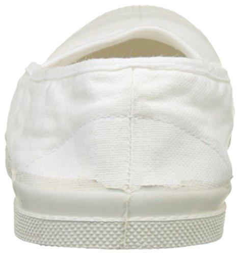 Bensimon Tennis Damen Blanc Sneakers Weiß Elastique rCrxWn