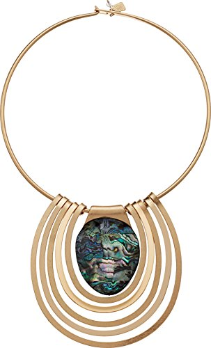 Robert Lee Morris Midnight Hour Gold Statement Round Wire Abalone - Hours Soho Shop