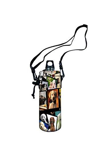 "UPC 701473661704, iColor Water Bottle Carrier , Water Bottle Holder 1L (1000 Milliliter) w/Adjustable Shoulder strap,Sling insulated Outdoor Sports Water Bottle bag Case Pouch Cover,Fits Bottle Diameter less 2.75"""