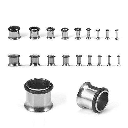 00g stainless steel plugs - 1