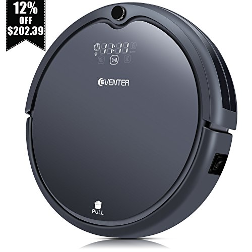 Robot Vacuum Cleaner with Powerful Suction, Auto-charging Anti-Dropping Robot Vacuum, Hardwood Floor and Low-pile Carpet Cleaner, HEPA Style Filter and UV Light for Pet Fur Hair - Gray