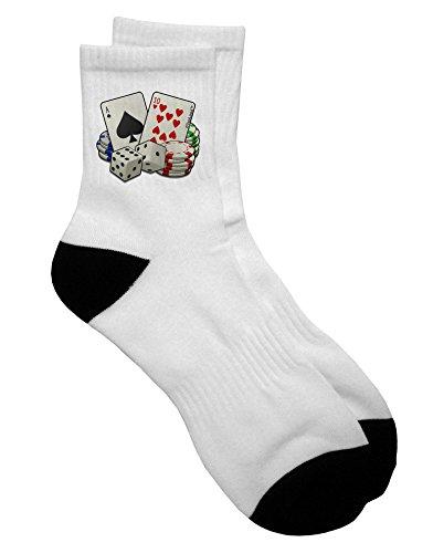 TooLoud Gambling Weapons Adult Short Socks Ladies 6-9 or Mens 6-8 ()
