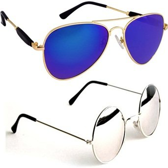 3cd933a2964 man sunglasses new style Combo Set of 2 UV Protect Sports Sunglasses ...
