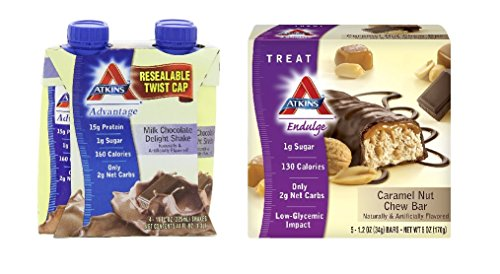 Atkins Weight Loss Value Bundle Ready To Drink Shakes 4-Pack Meal Bars 1 Box