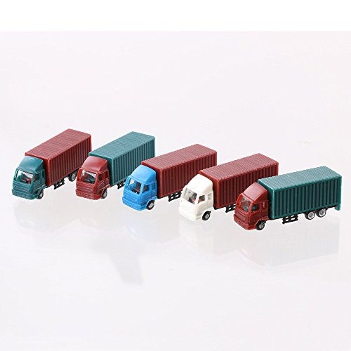 LYWS 5PCS Model Truck Freight Car 1/200 HO Scale Model Making Layout