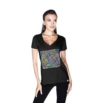 Creo Abstract 02 Retro T-Shirt For Women - Xl, Black
