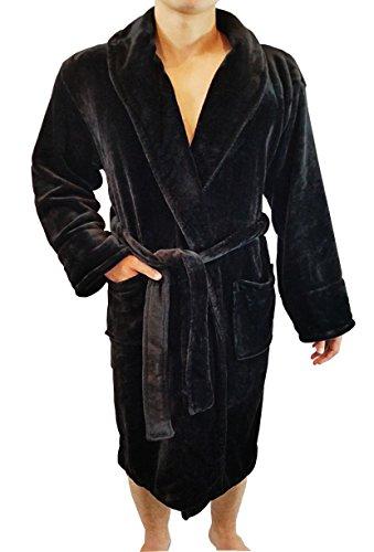 FASCIINO Men's Full Length Shawl Collar  - Fleece Shawl Robe Shopping Results
