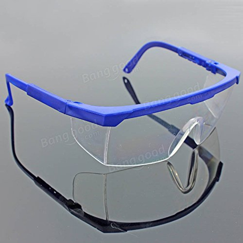 Safety Glasses Goggles -Motorcycle Goggles Glasses - Outdoor Cycling Sandproof Telescopic Leg Protective Glasses Dustproof Splashproof Goggles Glasses - Blue (Goggles Safety Glasses) (Telescopic Legs)