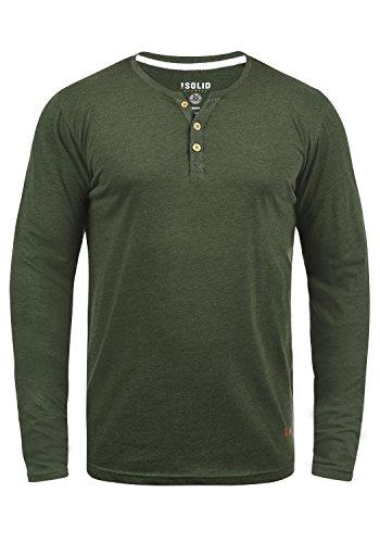 Volko M Climb nner Tunesischer T Shirt Langarm Ivy Melange8785 solider qL4jc35AR