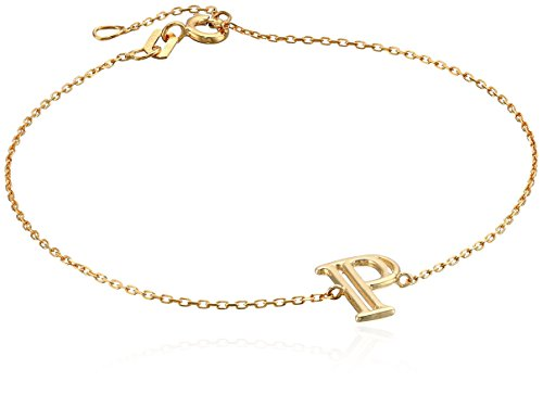 Italian Yellow Initial Adjustable Bracelet