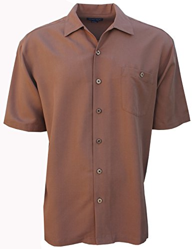 Big Clothing Smith (Foxfire Indygo Smith Poly/Rayon Herringbone Mens Shirt Whiskey 3X Big)