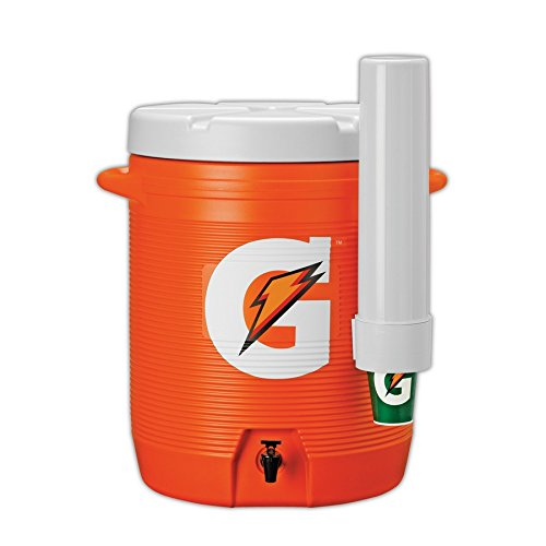 Gatorade 49602-09 Cooler with Attached Cup Dispenser, Orange, 10 gal Size