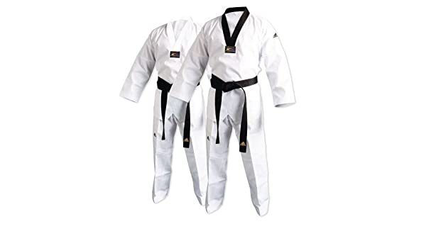 adichamp ADI-Club Taekwondo Uniform with Stripes