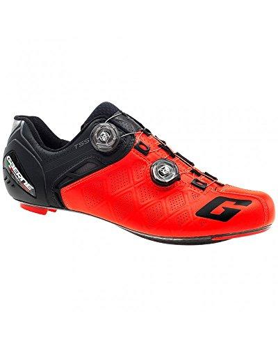 Gaerne Carbon G. Bici Da Strada Stilo + Schuhe, Rosso - 42.5