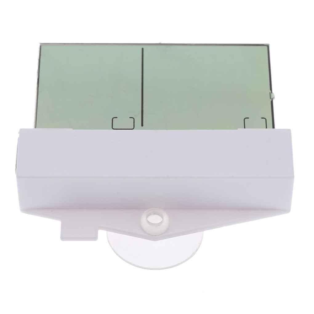 Rekkles Mini termometro Digitale Thermo-igrometro Humidometer Calibro di Temperatura Esterna Coperta 9~50 /° C Wall Hanging