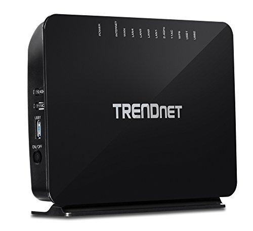 (TRENDnet AC750 Wireless VDSL2/ADSL2+ Modem Router, 200 Mbps VDSL Downstream Speeds, USB share ports, TEW-816DRM (Renewed))