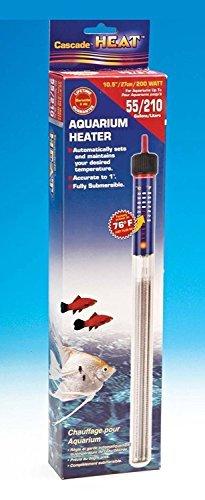 (55 Gallon Aquarium Heater 200 Watt Fully Submersible Fresh & Salt Water Fish Tank Warmer With)