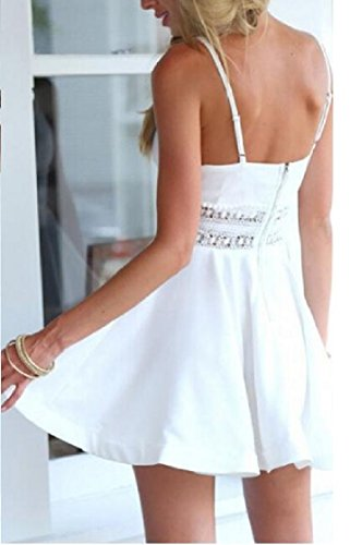 White Trapeze Women Crochet Metallic Dress Coolred Plunge Package Contenta Hip 1nqW6WvB