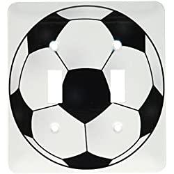 3dRose lsp_165872_2 Soccer Ball Light Switch Cover